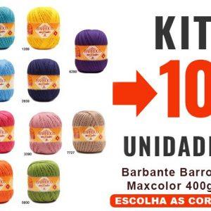 Barbante Barroco Maxcolor 400g -kit 10un-