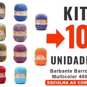 Barbante Barroco Multicolor 400g -kit 10un-12x-