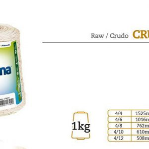 Barbante Cru Nº6 Euroroma 1kg – Kit 3 Unidades