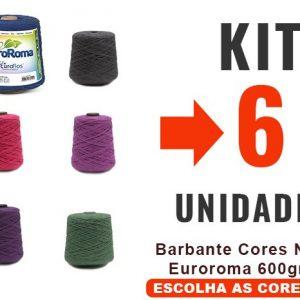 Barbante Cores Nº6 Euroroma 600grs – Kit 6 Unidades