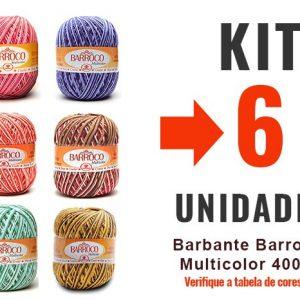 Barbante Barroco Multicolor 400g – Kit 6 Unidades