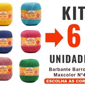 Barbante Barroco Maxcolor Nº4 – Kit 6un – 12x –