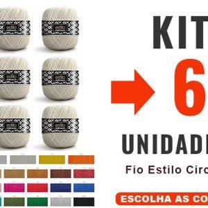Fio Estilo Circulo – Kit 6 Unidades – 12x –
