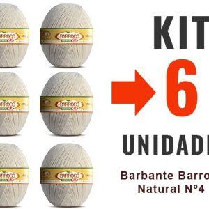 Barbante Barroco Natural – Nº4 – Kit 6 Un-12x –