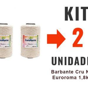 Barbante Cru Nº6 Euroroma 1,8kg – Kit 2 Unidades