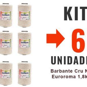 Barbante Cru Nº6 Euroroma 1,8kg – Kit 6un -12x-