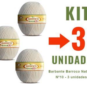 Barbante Barroco Natural – Nº4 – Kit 3 Unidades