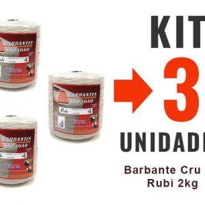 Barbante Cru Nº4 Rubi 2kg – Kit 3un -12x-